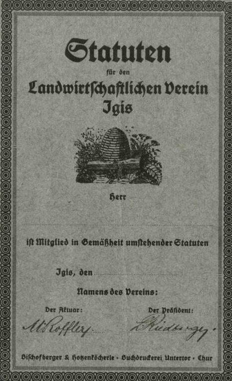 Grundstein für die Raiffeisenbank Bündner Rheintal